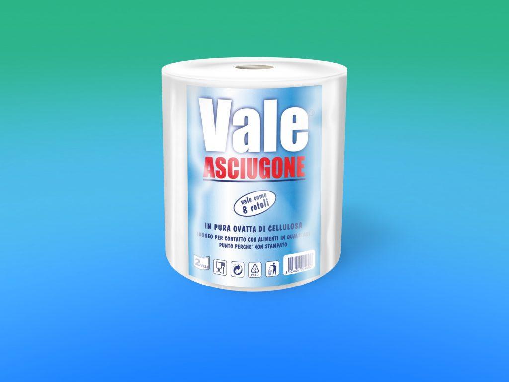 """Asciugone """"VALE"""" pura cellulosa, 2 veli microincollato"""