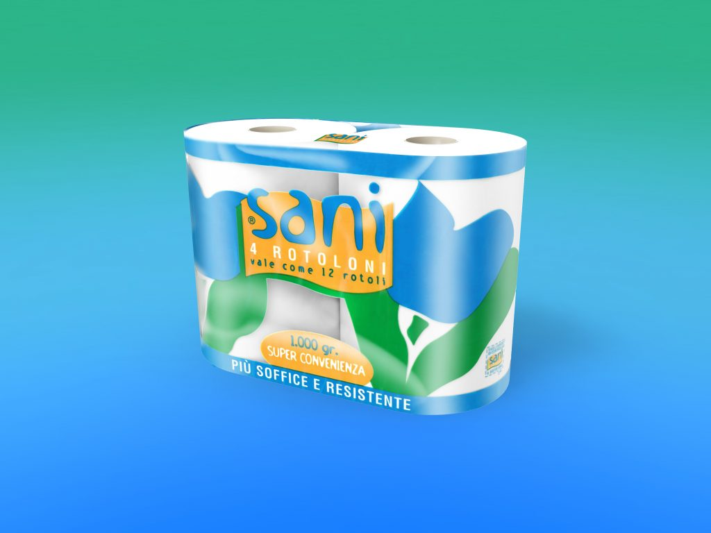 "Carta igienica ""SANI"" 4/rot. pura cellulosa, 2 veli g 1000"