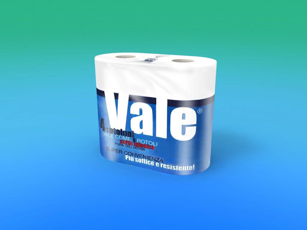 "Carta igienica ""VALE"" 4/rot. pura cellulosa, 2 veli g 700"